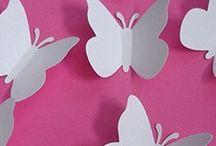papillons adhesif  decoration murale,scrapbooking,decoration mariage