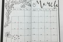 Self made Calendar Bullet Journal