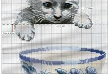 cross stitch cat