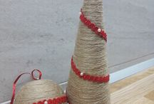 Christmas jute decorations