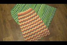 sukne, háčkované, pletené