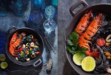 Les 10 plus beaux linguine noires aux fruits de mer / La Délicieuse Découverte de la semaine est au Portofino, il s'agit des linguine noires aux fruits de mer, mais voyez ce qui est proposé de par le monde!