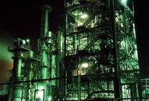 工場 夜景  Factory night view