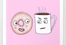 Пончик кофе