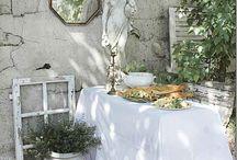 Inredning trädgård vintage / Vintage vitt