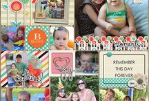 Project Life Creative Team Inspiration / Layouts by Mye De Leon Creative Team using pocket styled scrapbooking (project life)