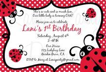 Ava's Lady Bug 1st Party!