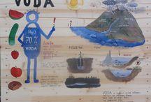 Výukové tabulky Bio zahrada / Tabulky jsem maloval do naší vznikající školní zahrady v roce 2013.