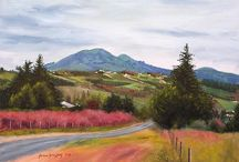 New Zealand Landscape Oil Paintings / Paintings of the south island of New Zealand. Created from plein air and studio work arising from travel to Dunedin, the Otago Peninsula and Milford Sound In the Christmas/New Year period of 2004-2005.