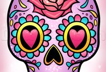 Sugar skulls/ Other Skulls + Dark things / Sorry if there is repeats or pictures in the wrong place! Enjoy!
