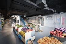 Interiér prodejny lahůdek a bistra v centru Prahy / více na webu: http://www.vysehrad-atelier.cz/projekty/interier-prodejny-lahudek-a-bistra-v-centru-prahy/
