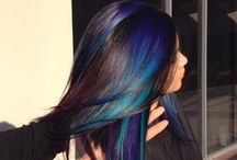 Coloured hairstyles