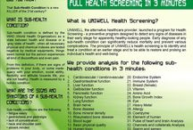 Health Screening / UNIWELL's health screening, using the Quantum Magnetic Resonance Analyzer technology provides analysis for 36 sub-health conditions in 3 minutes.