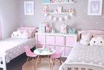 Girls bedroom we love. / A beautiful collection of girls bedrooms & nurseries! We love neutrals and patterns that can easily suit the kids as they grow up. With simple and classic designs and pops of colour, we almost want to take these rooms for ourselves!