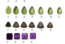 Painting gemstones