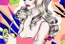 Soleil Ignacio / Illustrations by commercial Fashion & Beauty illustrator Soleil Ignacio represented by leading international agency www.illustrationweb.com