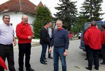 Echipa PSD Argeș în localitățile / Cetățeni, Stoenești, Dragoslavele, Dâmbovicioara, Rucăr și orașul Câmpulung.