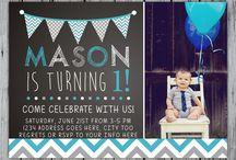Baby Boy Party Invitations