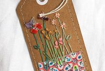Embroidered gift tags