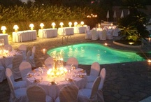 Events by a swimming pool  / Events by the swimming pool, outdoor events, swimming pool events