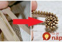 náhrdelník zo starého zipsu