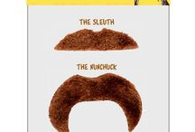 Mustache Sets and Accessories / Mustache Sets that can be found on Pinterest and Website. http://www.mulletonthego.com