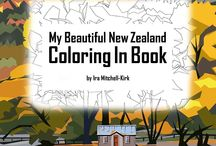 Coloring In Books / I love coloring in and have created my NZ landscape based book.