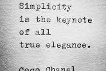 simple ♡ filosofy / simpele woorden, veel impact !