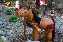 Flowerpot horse
