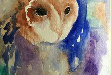 Belindas Artwork / Watercolour painting -Barn Owl
