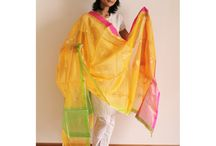 Dupattas Collection / Wide variety of dupattas from banarasi to chanderi to maheshwari with different prints and handwoven patterns.