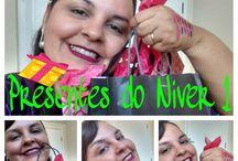 PRESENTES DE MAQUIAGEM DO NIVER!