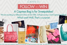 CONTEST -WIN A CAPRESE HANDBAG! / A Caprese Handbag is for sweepstakes!  We're counting our followers!Once we hit 1000, we'll give away a cool Caprese Handbag! All you have to do is Follow us & you could win if you're lucky!