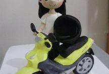 Auta - motorky - kola - traktory z fondánu