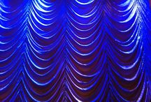 White Velvet - Ruched Curtain 13m wide x 5m height / Old Hollywood Inspired event. Crushed cream velvet, sewn into a dramatic roughed curtain.