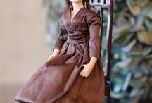 Emma / 1:12 porcelain doll by Taru Astikainen