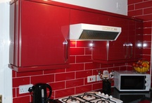 Kitchen Makeovers / Red Gloss Kitchen makeover