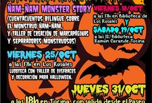 2013.Halloween en la Red de Bibliotecas Públicas Municipales. / Actividades que se celebran desde el 19 al 31 de Octubre de 2013 en nuestra Red de Bibliotecas Públicas Municipales de Tocina y Los Rosales.