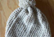 Crochet beanies,headbands and gloves