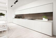 white kitchen restaurant