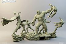 Diorama The Avengers Battle Scene 1/6 - MARVEL - IRON STUDIOS