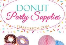 Donut themed birthday
