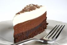Chocolate Mousse Cake / Three layers of heavenly chocolate!