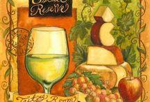 Вино, виноград и все, что в бутылках)) / натюрморты с винными бутылками и прочее.