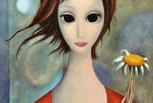 grandes olhos Margareth Keane