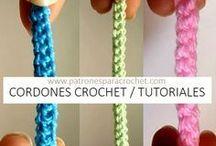 cordones a croche