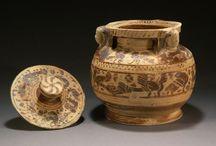 Corinthian vases / Corinthian vase - Corinthian krater - Corinthian kotyle - Corinthian alabastron - Greek ophlite