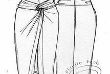 юбка узел на бедрах