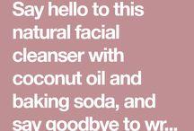 Cleanser. Coconut oil n baking soda