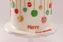 Dripped cake (kerst)